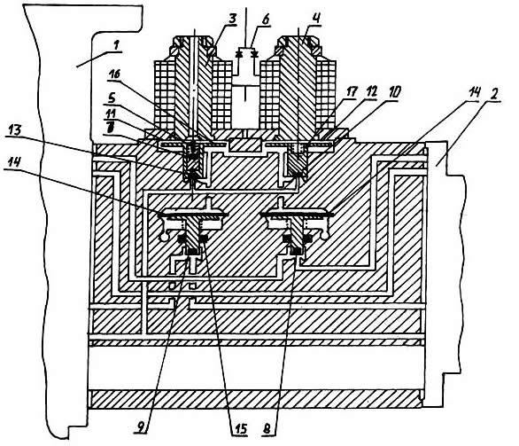 Схема электропневматической