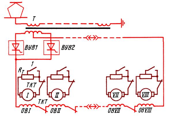 цепи электровоза ВЛ80т