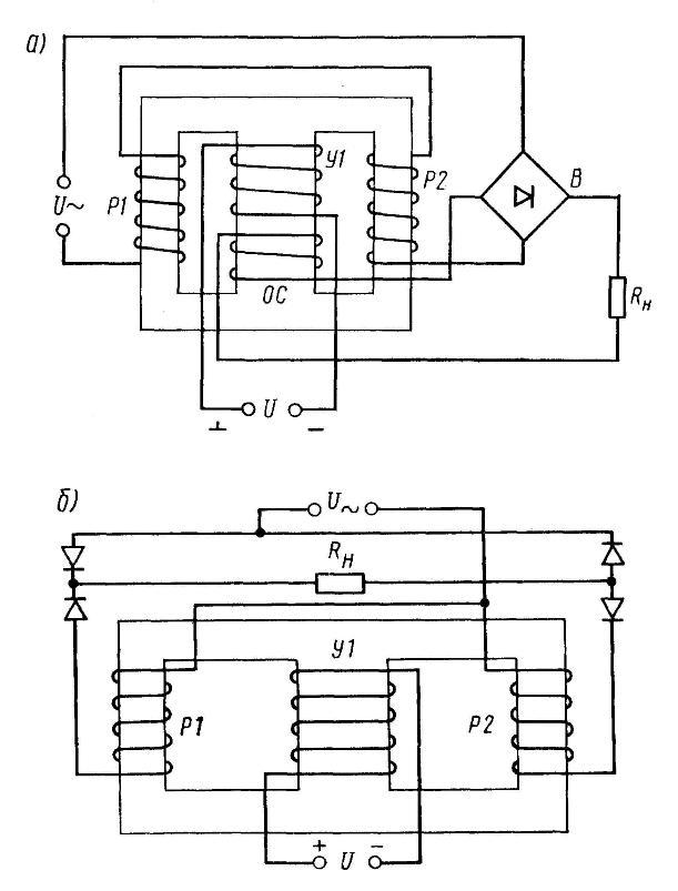 Схемы магнитных усилителей